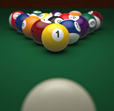8 ball billiards: 3d image of classic pool balls
