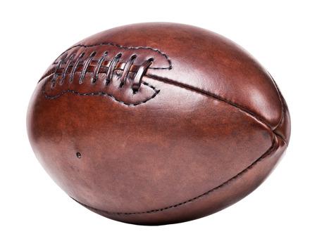 pelota de rugby: Fondo de fútbol de cuero viejo clásico Foto de archivo