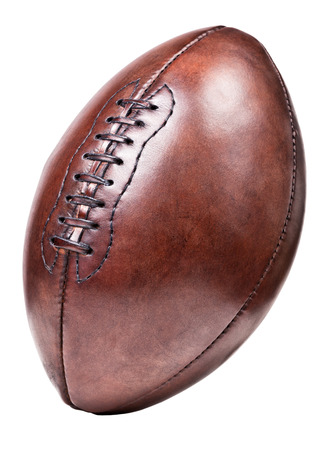classic old leather football background photo