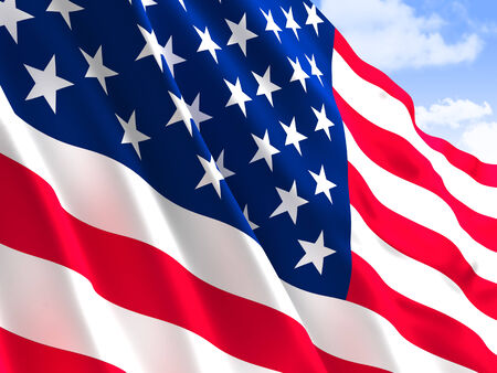 glory: background og usa flag old glory Stock Photo