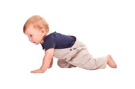 crawl: child crawl isolated on white background