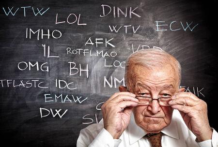 slang: senior and slang on blackboard