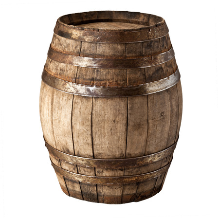image of classic wood barrel on white background Stock Photo - 31096907