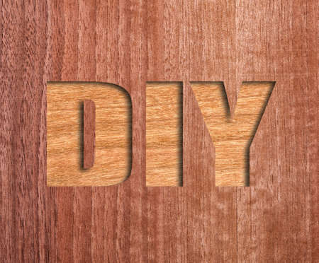 carpentery: diy text on real wood