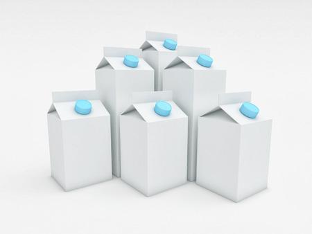 caja de leche: Imagen en 3D de la caja de leche clásico