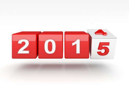 newyears: 3d image of 2015 text Stock Photo