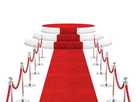 tappeto rosso e barriera corda