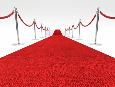 red carpet and rope barrier photo