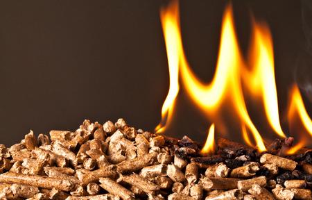 wood pellets: closeup image of wood pellets