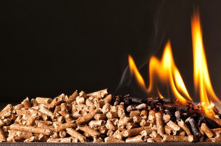 stoves: closeup image of wood pellets