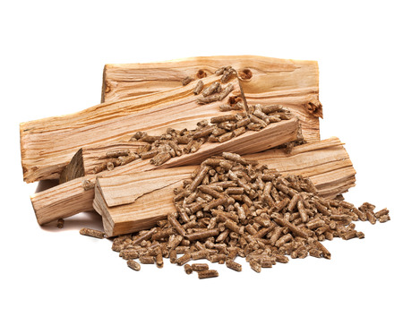 closeup image of wood pellets photo