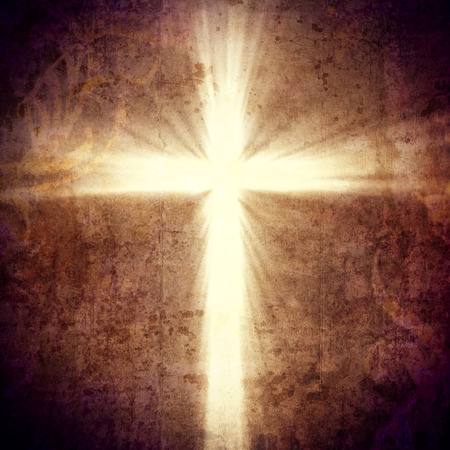 christian: 3d image of cross light Stock Photo