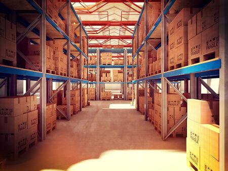 osb: 3d image of classic warehouse