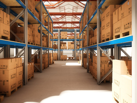 3d image of classic warehouse photo