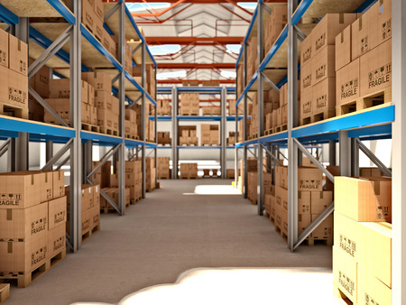 3d image of classic warehouse