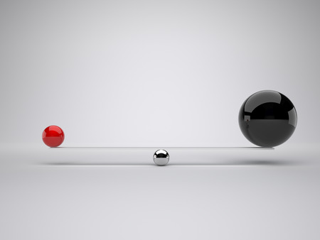 different balls in false balance photo