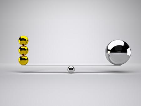 chorme: golden and silver balls in false balance