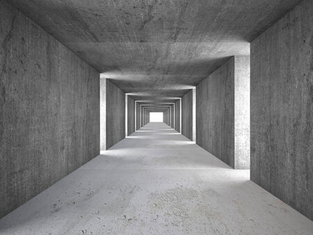 architecture and buildings: 3d image of abstract tunnel