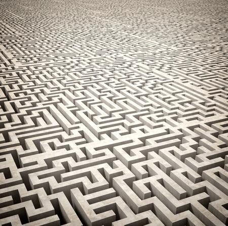 3d image of classic maze photo