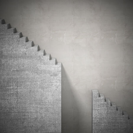 concrete stairs: abstract 3d stair and missing steps