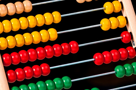 numbers counting: image of classic wood abacus