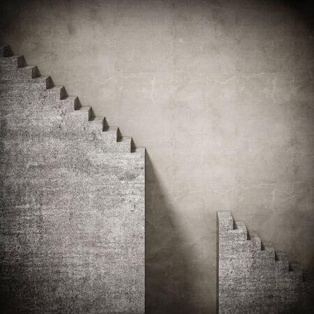 3 d コンクリート グランジ階段背景 写真素材
