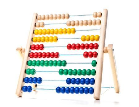 arithmetic: image of classic wood abacus