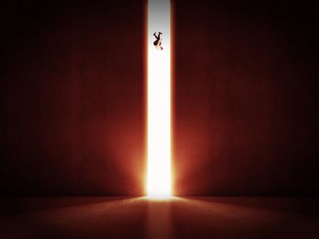 hombre cayendo: la ca�da del hombre y 3d puerta