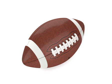 american sport: american football ball 3d background