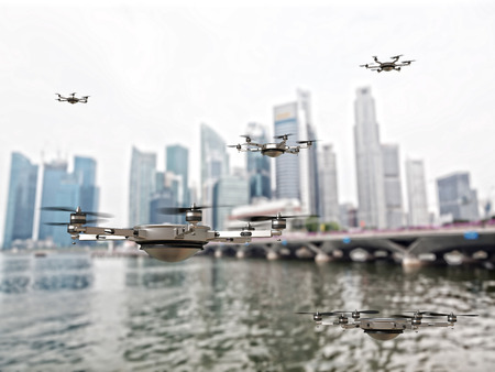 3d image of futuristic drone Stock Photo