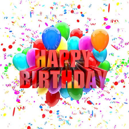 globos de cumpleaños: globos de cumpleaños wallpaper Imagen en 3D