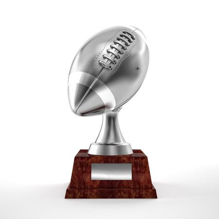trofeo: 3d americano trofeo de f�tbol de plata