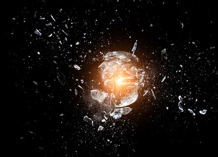 close up image of glass ball  explosion