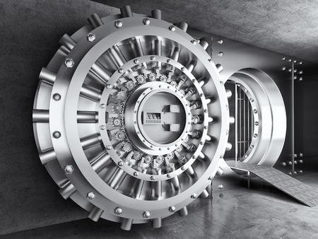 banco dinero: Imagen 3D de puerta de b�veda cl�sico