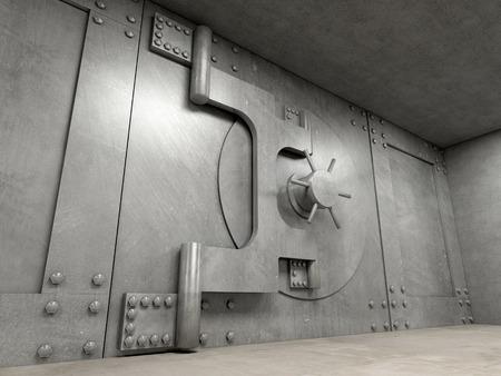 caja fuerte: Imagen 3D de puerta de b�veda cl�sico