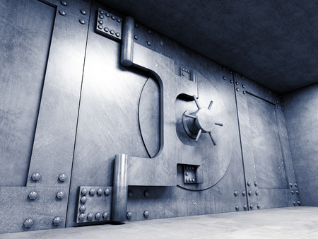 room door: 3d image of classic vault door
