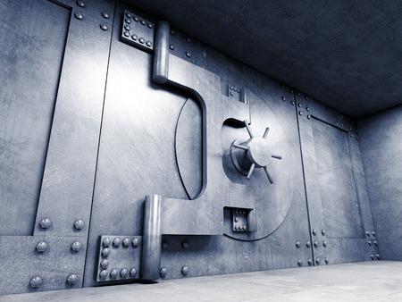 safety gear: 3d image of classic vault door