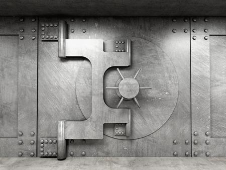 고전 금고 문 3D 이미지