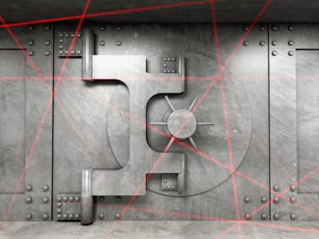 古典的な金庫室の扉の 3 d 画像