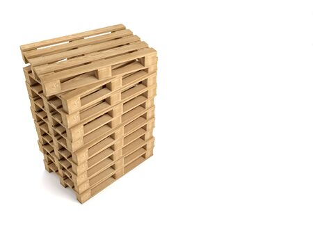 packaging industry: 3d image of classic wood pallet Stock Photo