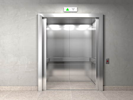 elevator: classic elevator and indoor background