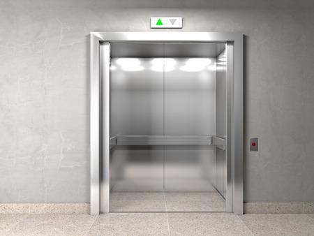 Klassieke lift en indoor achtergrond Stockfoto - 37781164