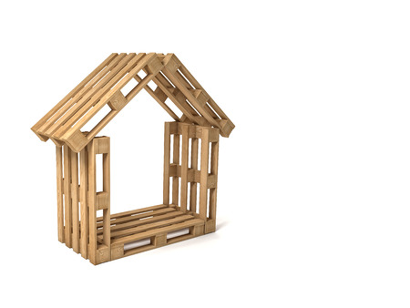 pallet: abstract 3d wood pallet house