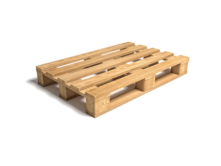 3d image of classic wood pallet Stock Photo