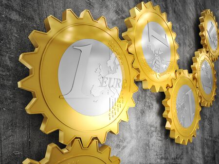 abstract: render of euro gear machine part Stock Photo