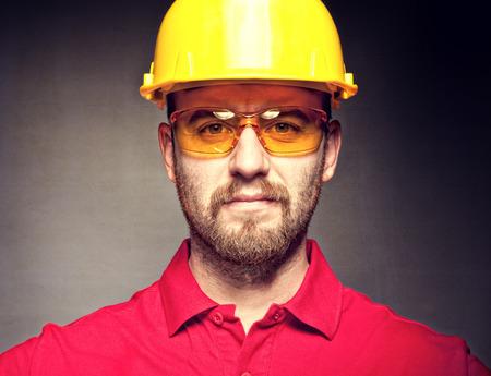 보호와 건설 노동자의 초상화 스톡 콘텐츠 - 38696856