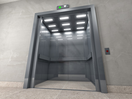 3d image of classic elevator