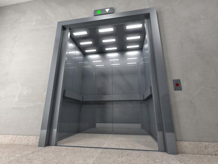 3d image of classic elevator