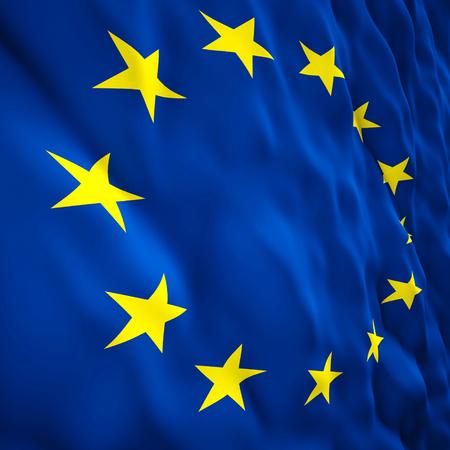 european: 3d illustration of european flag