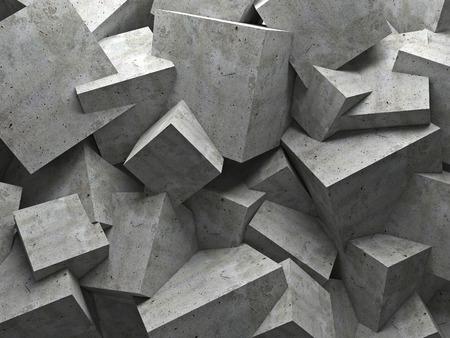 Cemento 3d parete del cubo di fondo Archivio Fotografico - 39050539